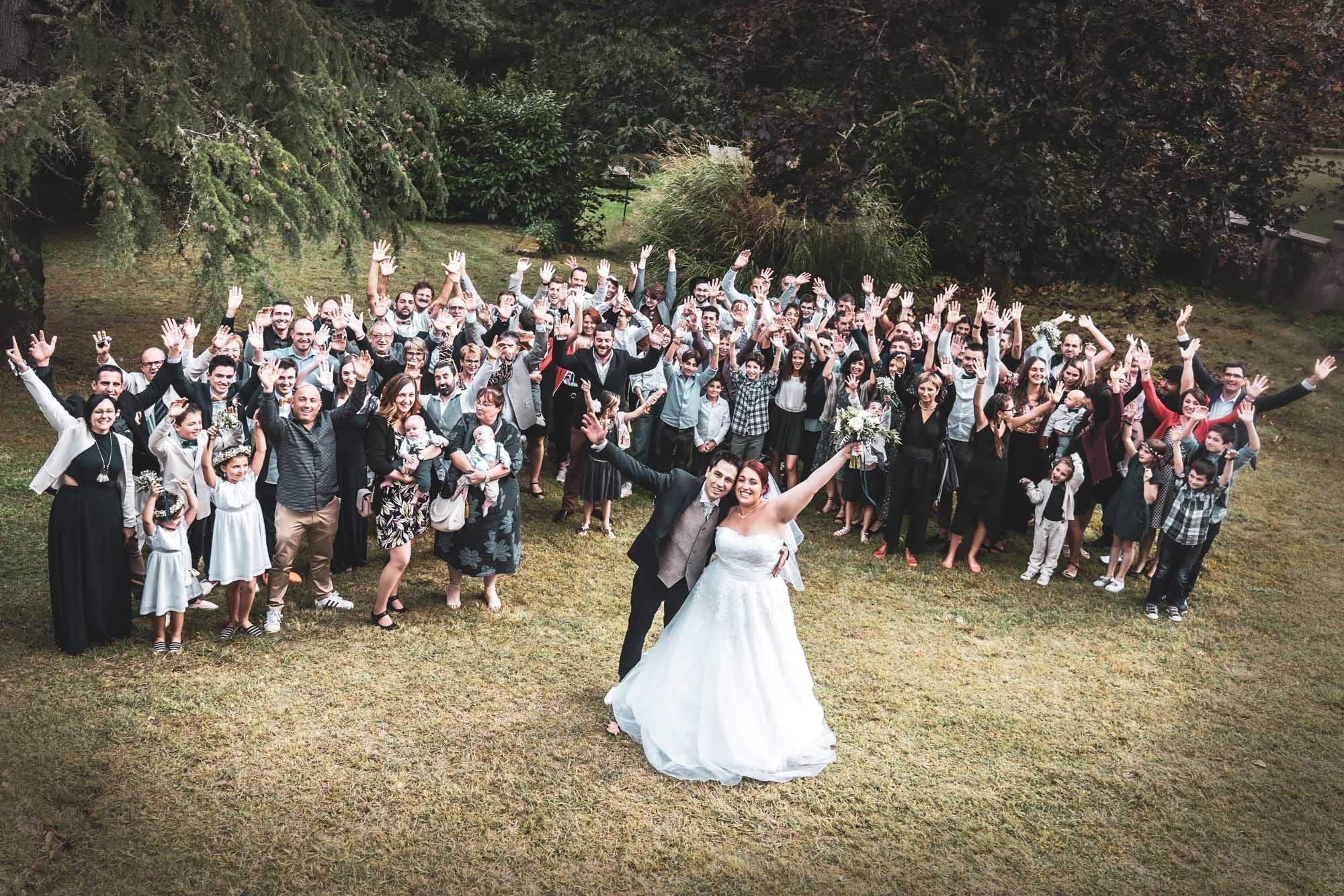 Photo de groupe - mariage - landes