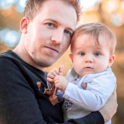 portrait papa et sa fille