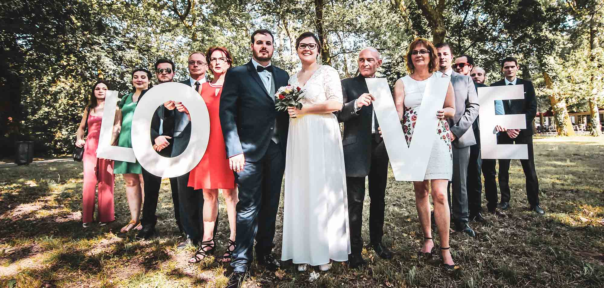 Photo de groupe mariage dax LOVE