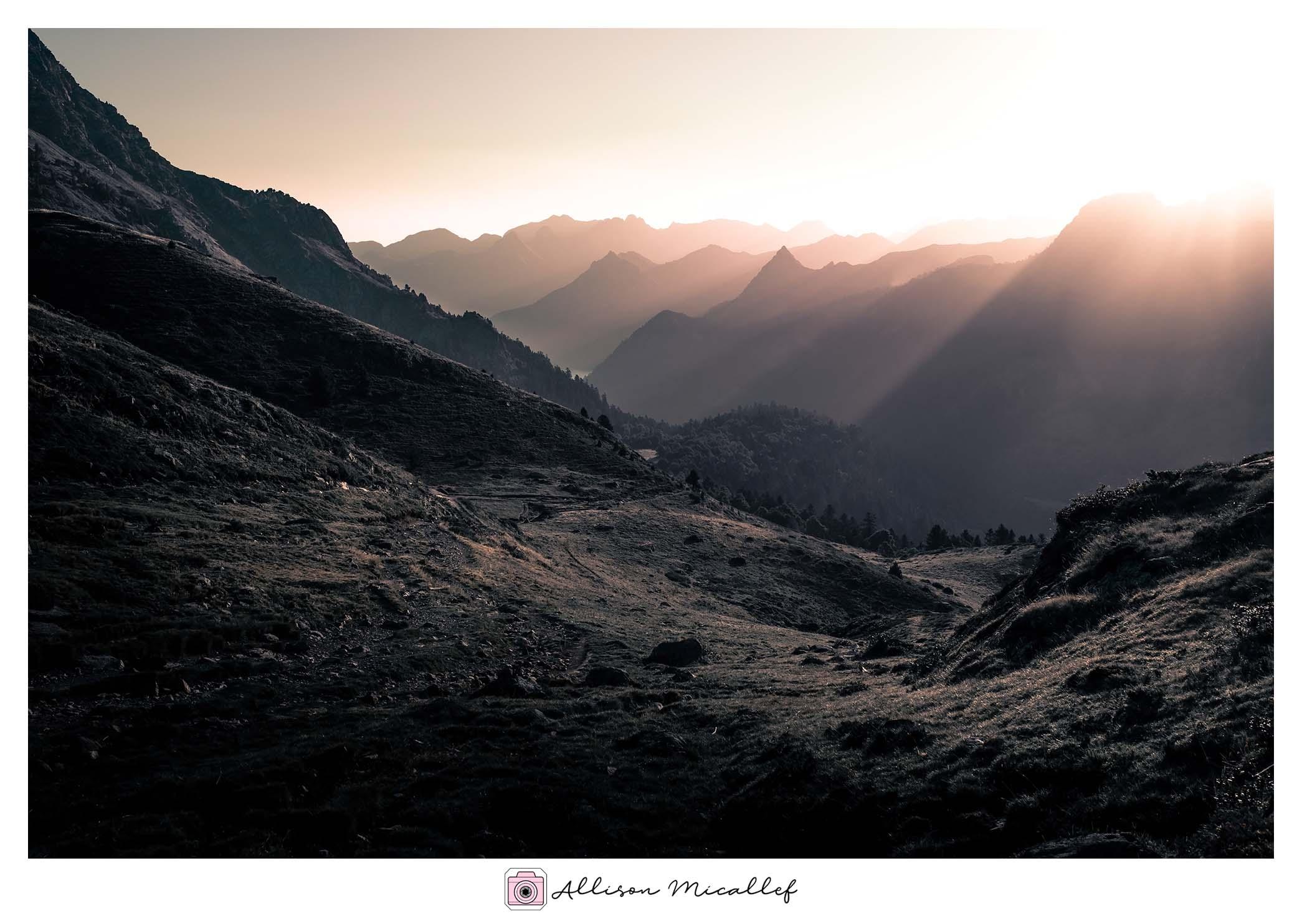 Paysage montagne pyrénées