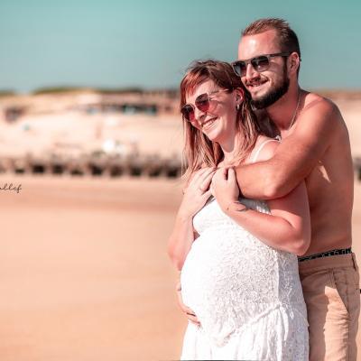 Photographe de grossesse sur la cote basque