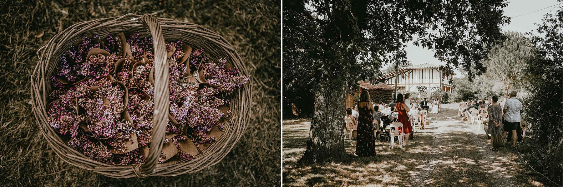 Mariage landes boheme laique photographe dax 5