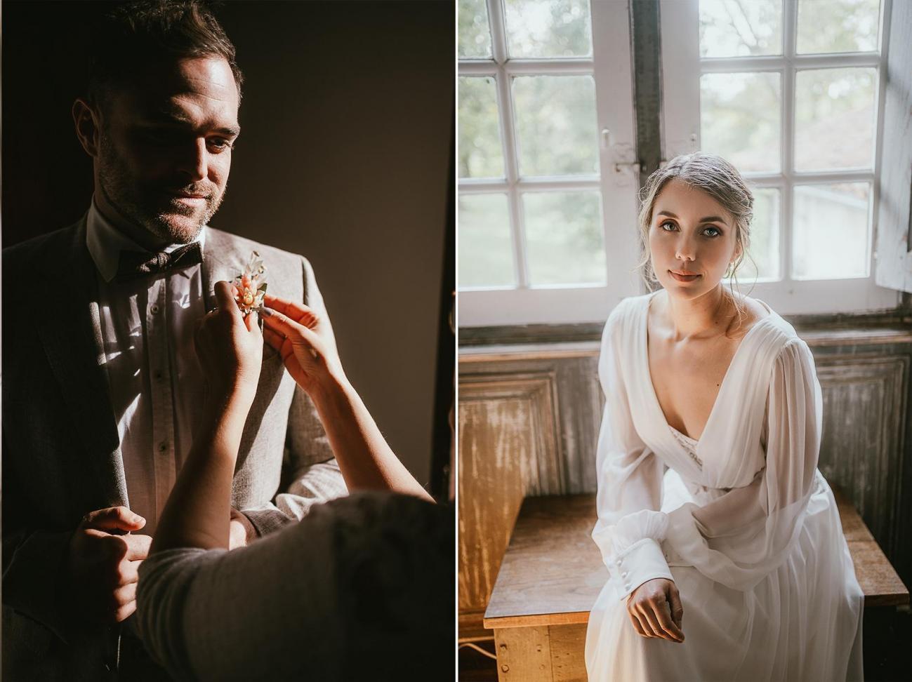 Mariage landes photographe inspiration elopement rustique wedding 77