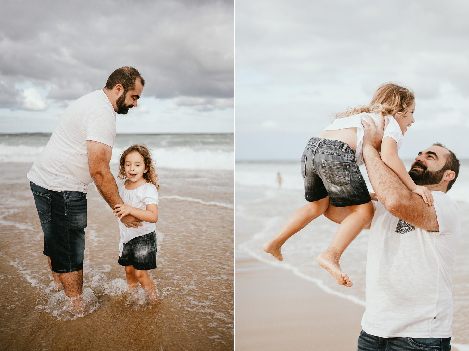 Photo famille capbreton plage photographe 33