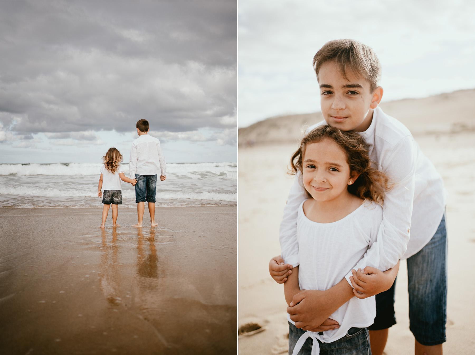 Photo famille capbreton plage photographe 34