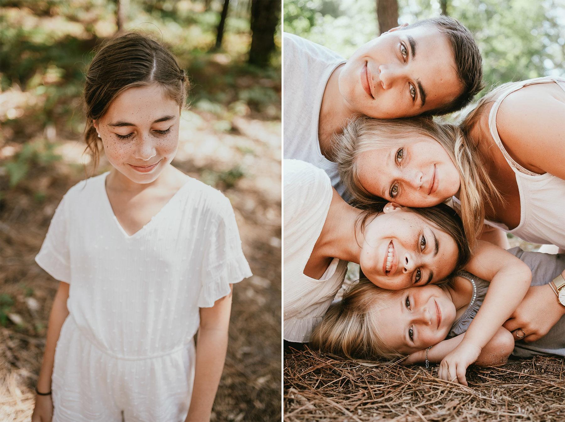 Photo famille landes capbreton plage foret photographe 1f