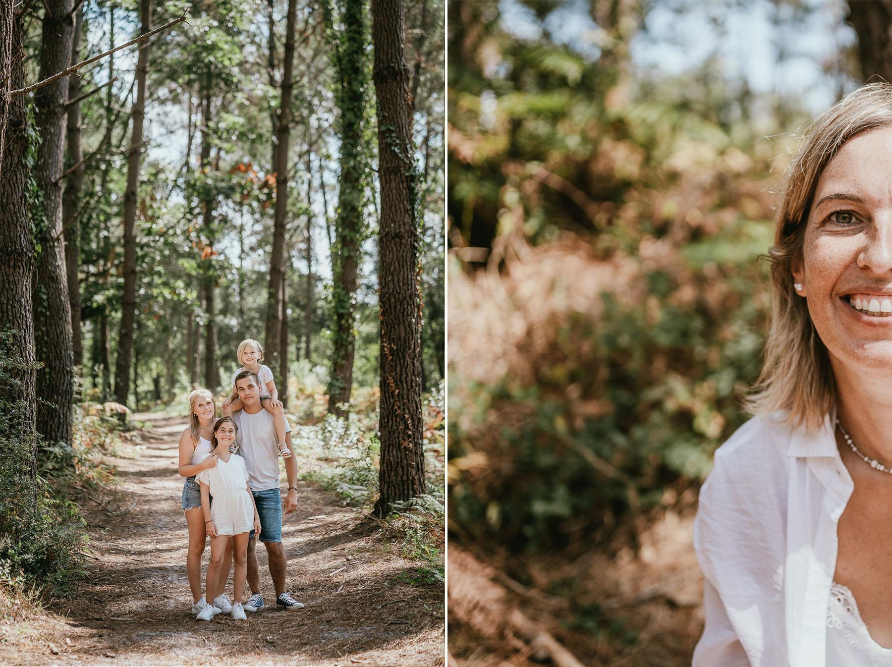 Photo famille landes capbreton plage foret photographe 1ff