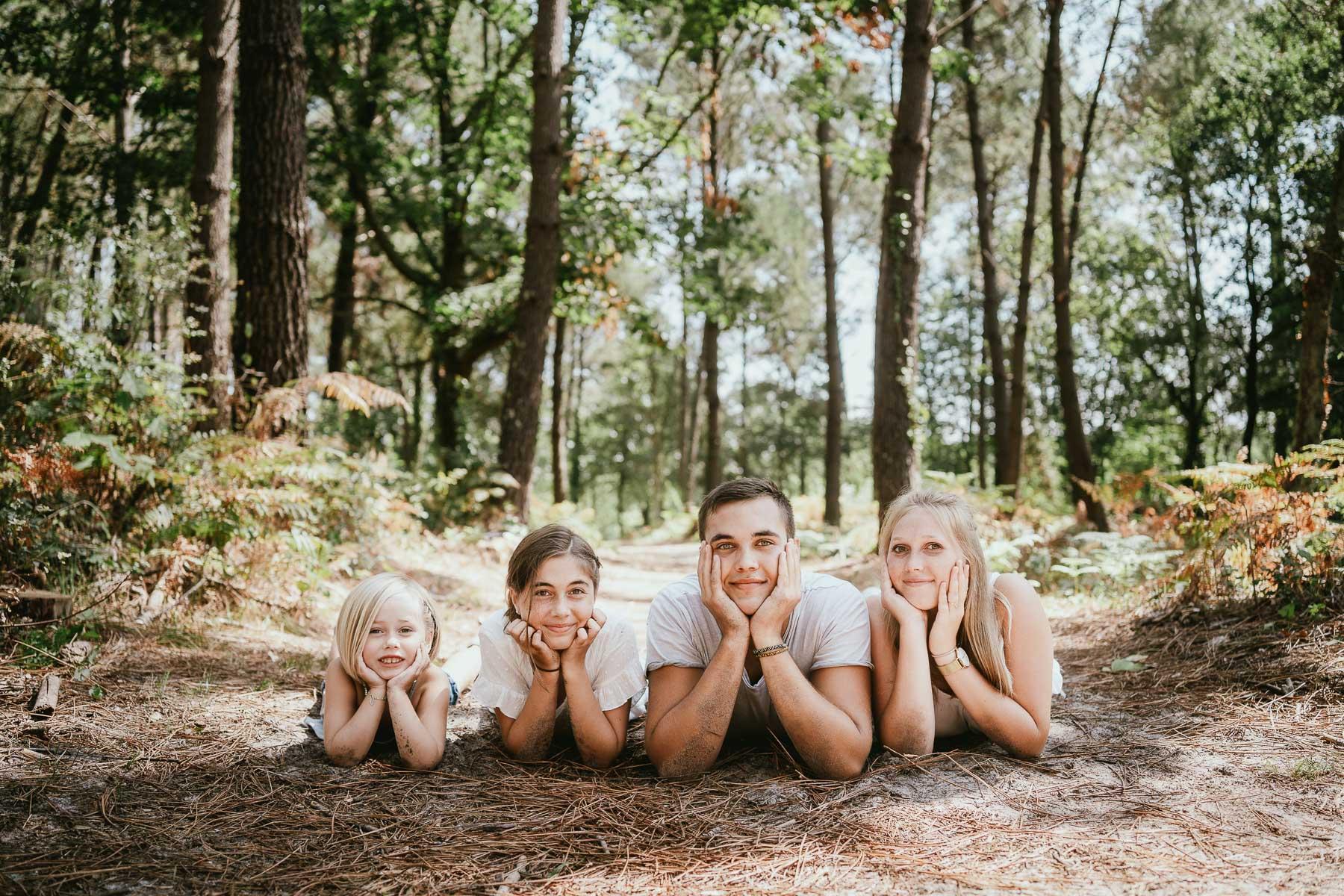Photo famille landes capbreton plage foret photographe 21