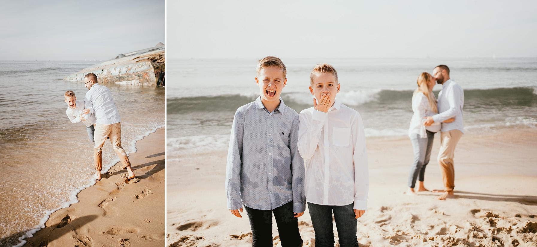 Photographe grossesse landes plage famille capbreton 1
