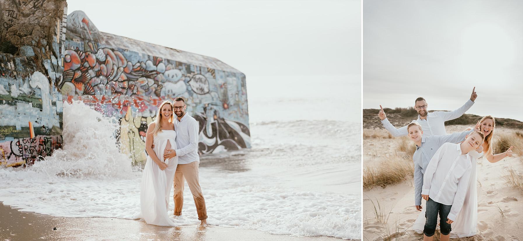 Photographe grossesse landes plage famille capbreton 5
