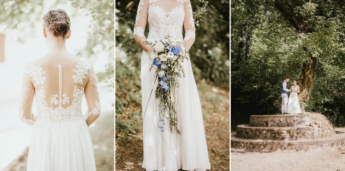 Photographe mariage dax landes aquitaine bouquet et robe