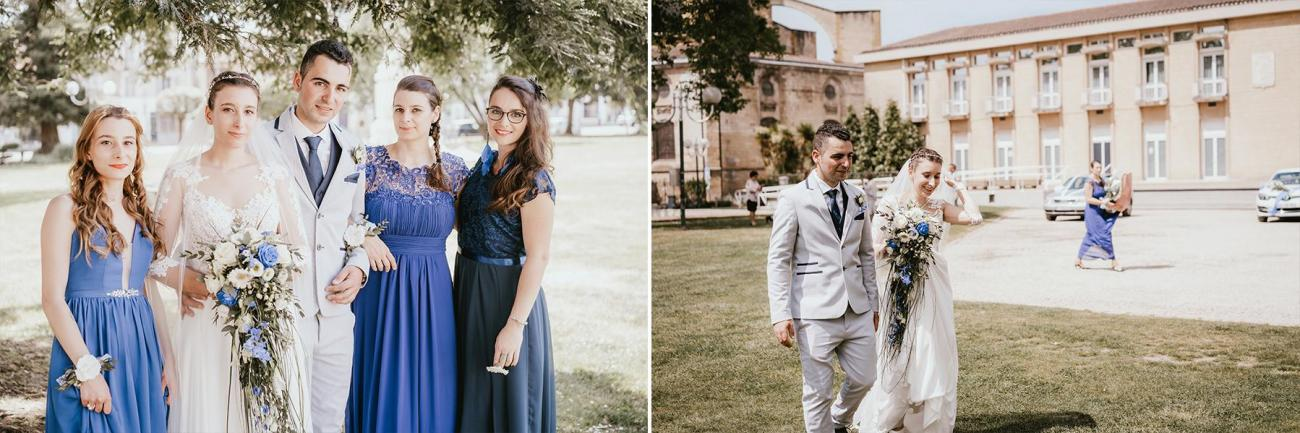 Photographe mariage dax landes aquitaine sortie de mairie