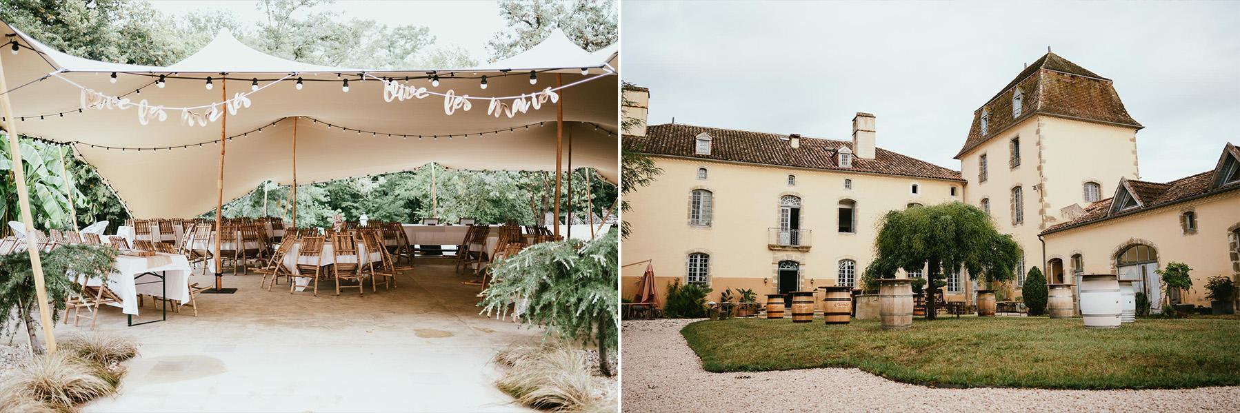 Photographe mariage landes chateau lupiac