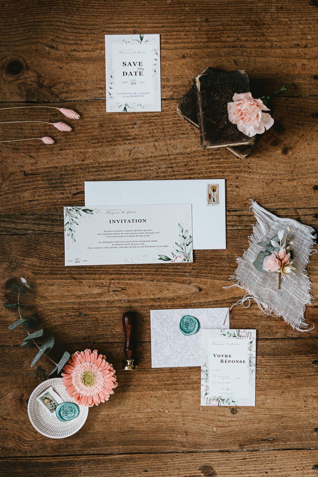 Photographe mariage landes dax aquitaine boheme moody chic