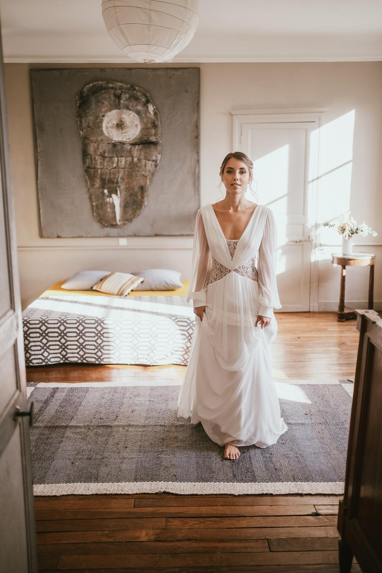 Photographe mariage landes dax aquitaine boheme moody chic 11