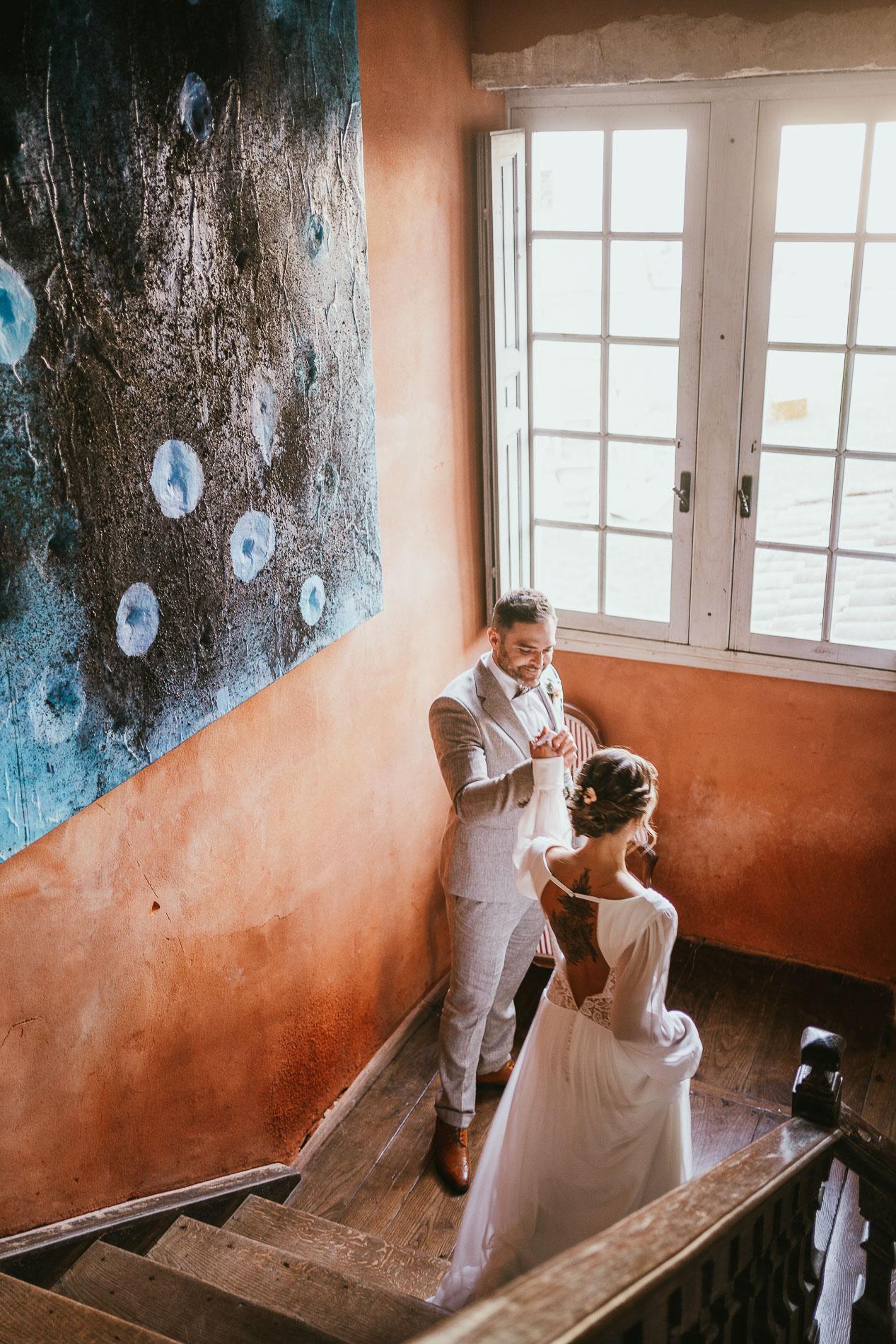 Photographe mariage landes dax aquitaine boheme moody chic 14