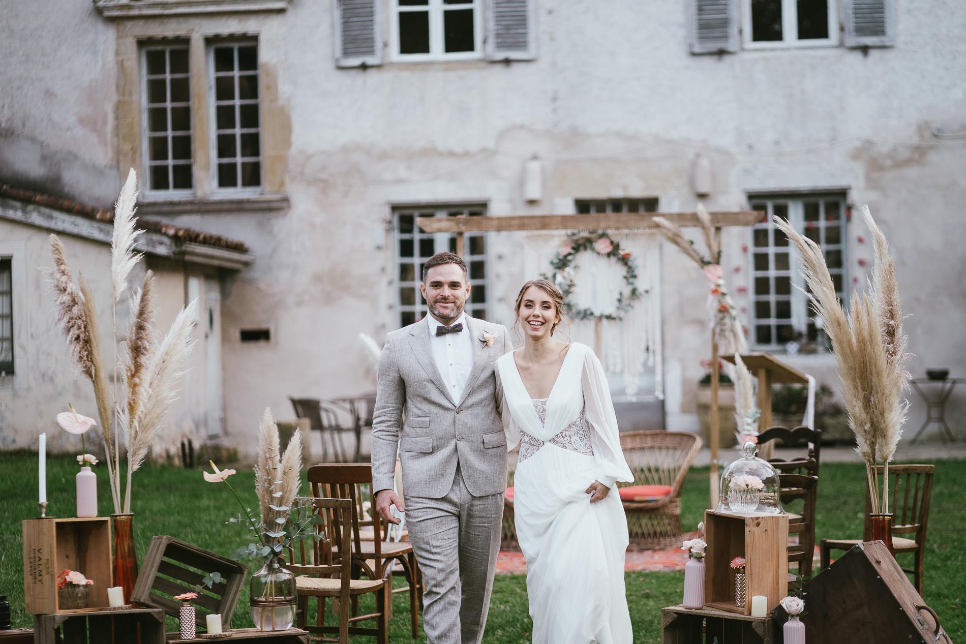 Photographe mariage landes dax aquitaine boheme moody chic 17