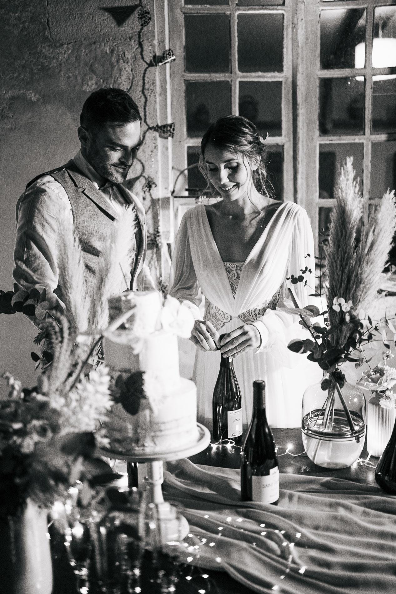 Photographe mariage landes dax aquitaine boheme moody chic 21