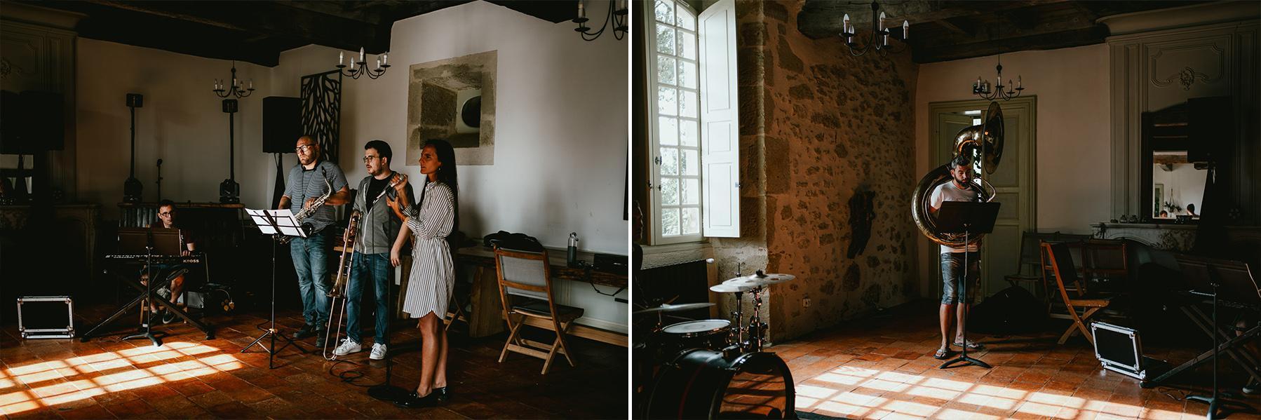 Photographe mariage landes musique chateau