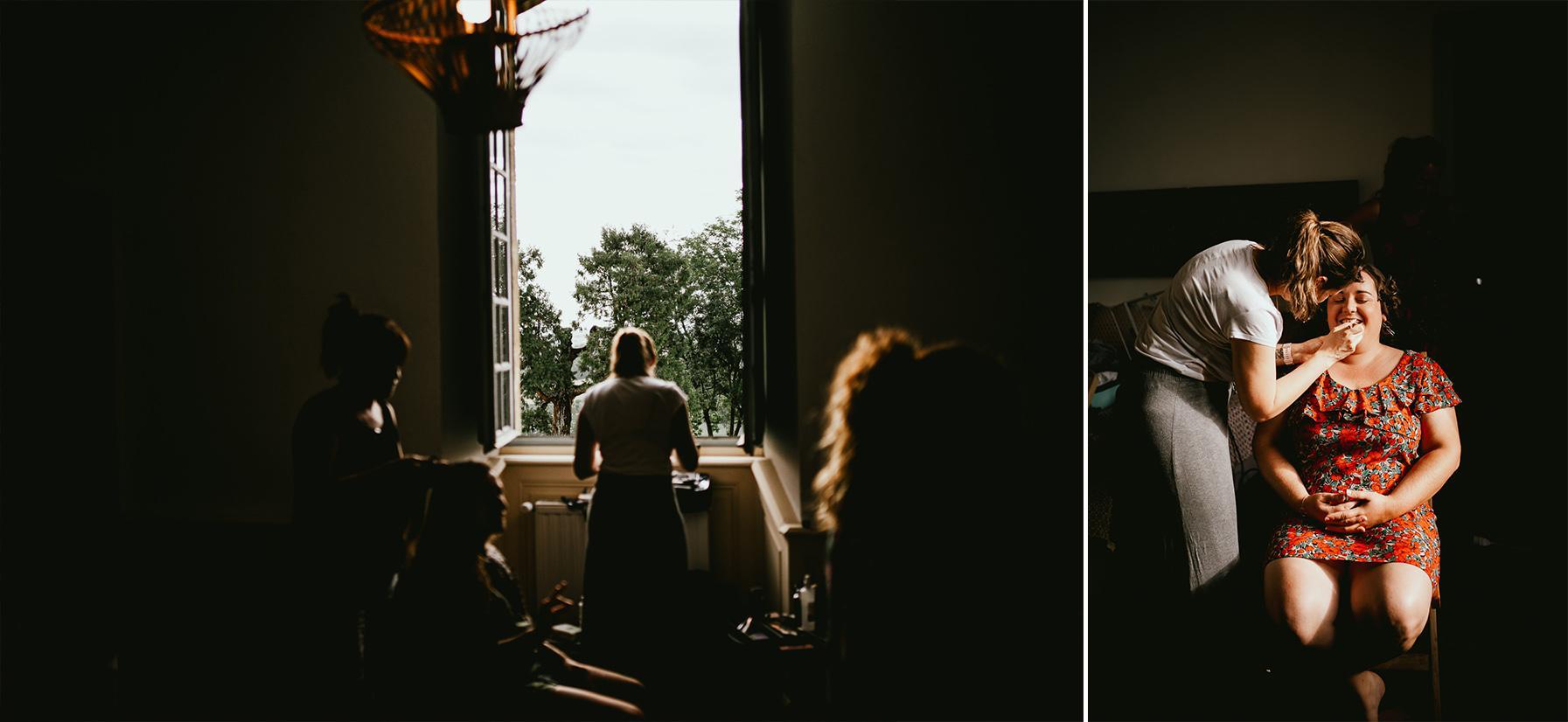 Photographe mariage landes preparatifs chateau