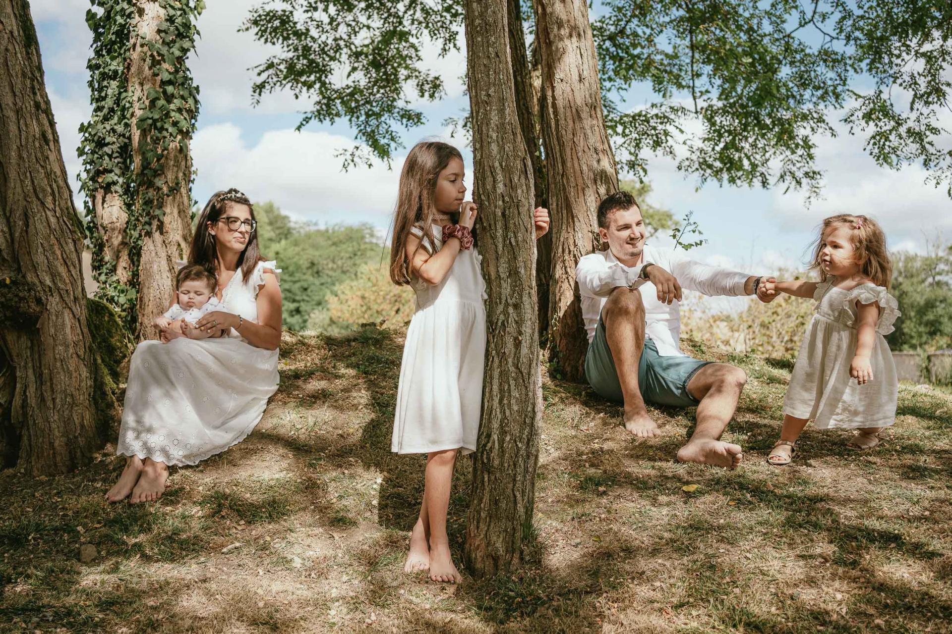 Portrait de famille dax foret landes lifestyle