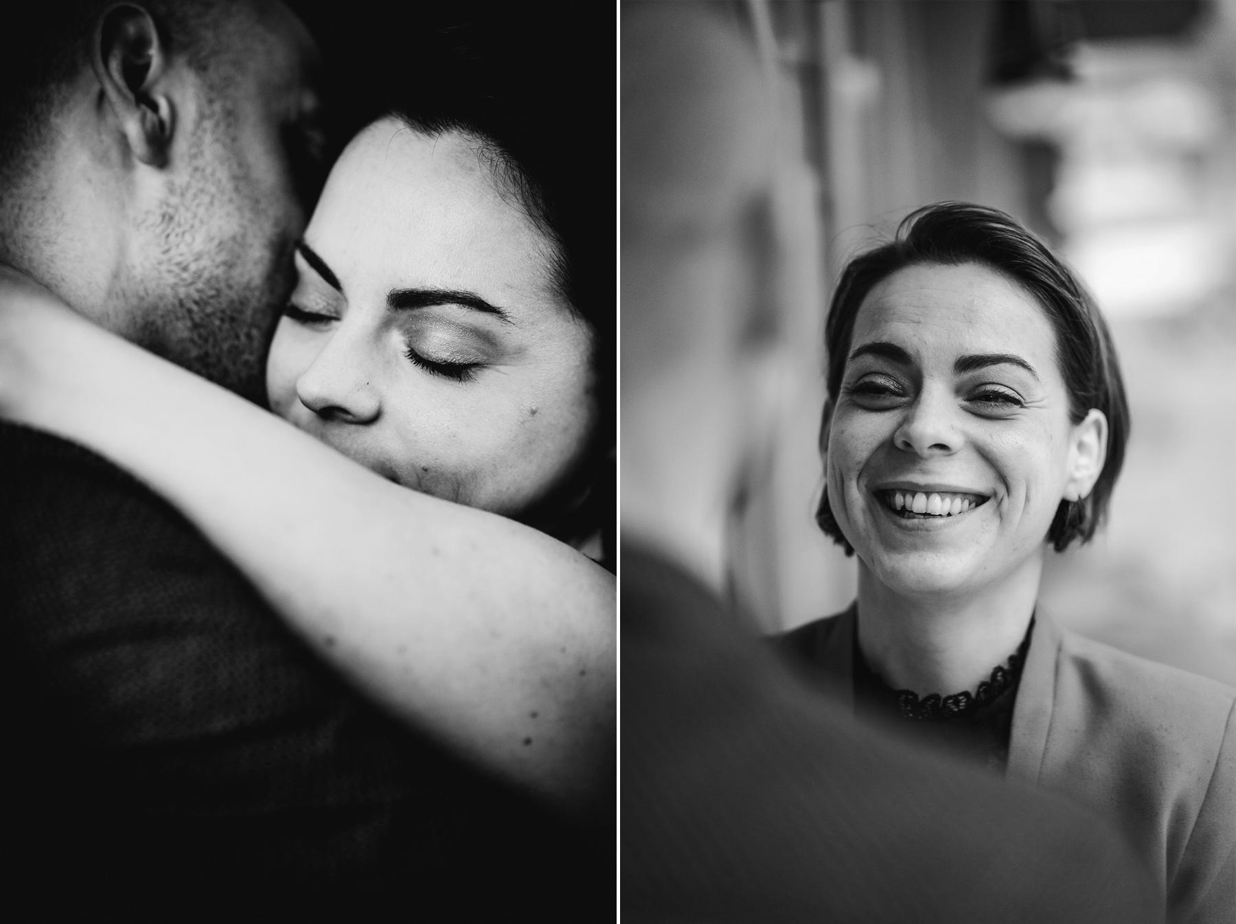 Shooting couple noir blanc photographe pluie 115